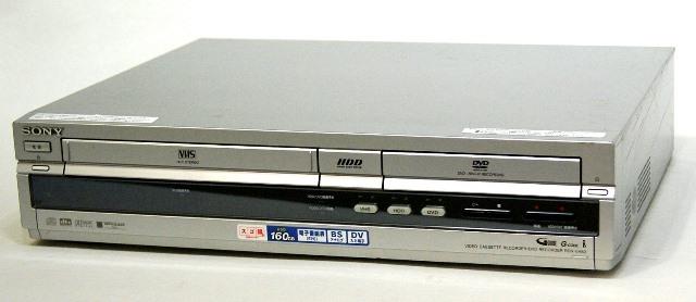 【中古】迅速発送+送料無料!! 《訳あり(一部保証対象外)》 SONY ソニー RDR-VH83 HDD搭載VHSビデオ一体型DVDレコーダー『スゴ録』(HDD/VHS/DVDレコーダー) HDD:160GB  専用リモコン付【@YA管理1-53-6046764】