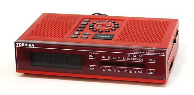 【中古】迅速発送+送料無料+動作保証!! TOSHIBA 東芝 RC-K4 赤 FM/AM 2バンドラジオ クロックラジオ ビンテージ ヴィンテージ レトロ アンティーク【@YA管理1-53-4X50003660】