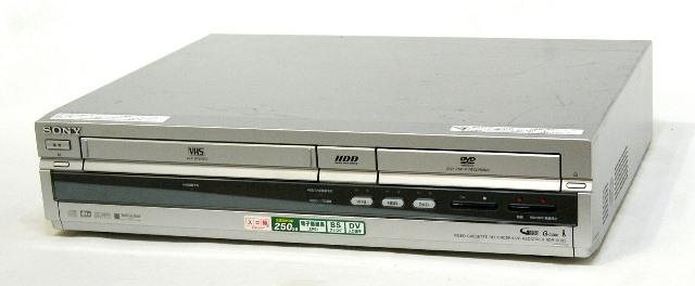 全品最安値に挑戦 メーカー:SONY 発売日:2005年7月25日 中古 迅速発送+送料無料 《訳あり 一部保証対象外 》 SONY ソニー RDR-VH93 250GB 専用リモコン付 新作からSALEアイテム等お得な商品満載 HDD アナログチューナーのみ HDD: スゴ録 DVDレコーダー VHS @YA管理1-53R-6009528 HDD搭載VHSビデオ一体型DVDレコーダー