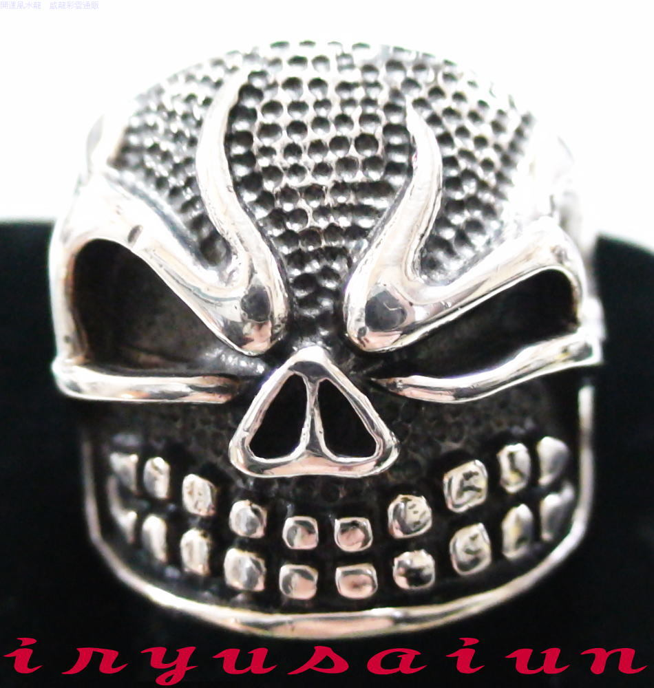 S925 髑髏 どくろシルバ-925 リング 27号新品 男女兼用メンズ指輪 レディース指輪ジュエリー アクセサリー 送料無料Silver skull ring指輪 サイズ リングサイズ 威龍彩雲