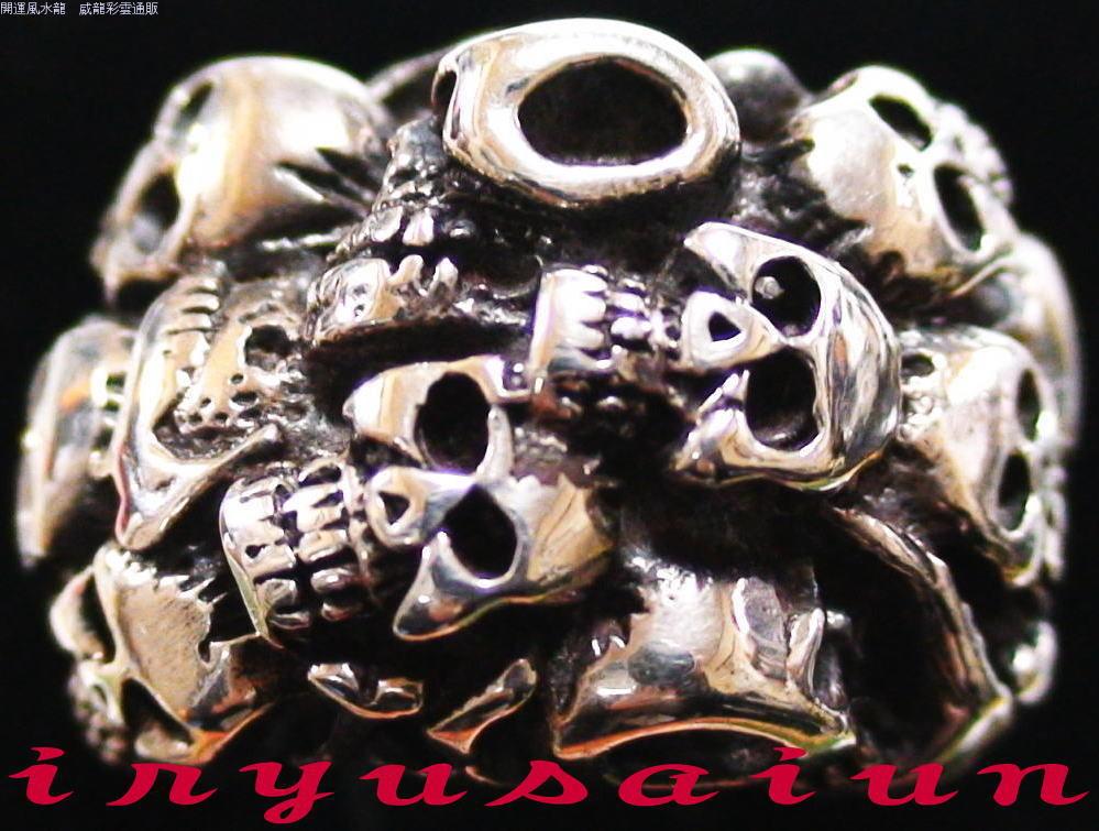 【送料無料】 S925 髑髏 どくろシルバ-925 リング 20号新品 男女兼用メンズ指輪 レディース指輪ジュエリー アクセサリーSilver skull ring指輪 サイズ リングサイズ 威龍彩雲通販