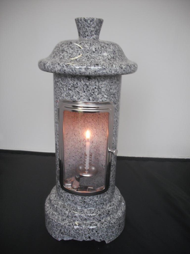 風防ガラス付き 蝋燭立て ろうそく立て バーゲンセール 白御影石 ガラス扉 ストア 墓石用風防