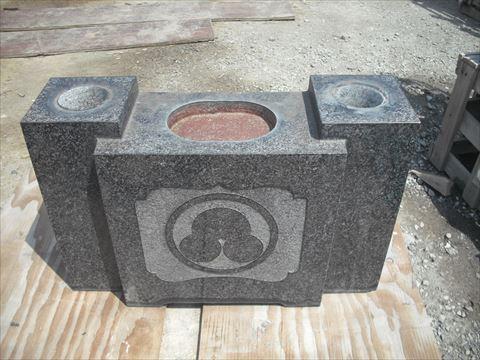 持ち込み専門 古花立便利に改造穴あけ作業