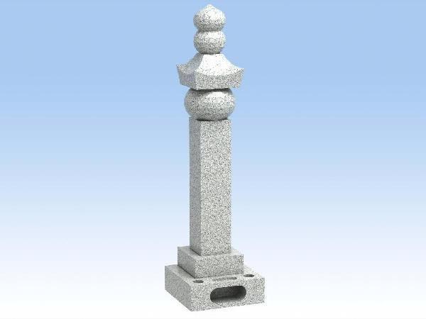 墓石 自作五輪塔(白御影石)