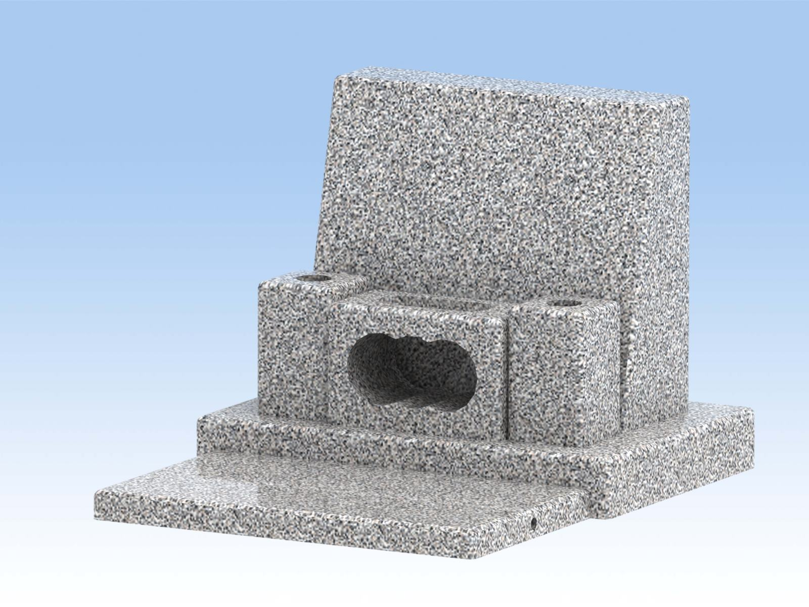 墓石 DIY自作キットB(横型中) 白御影石