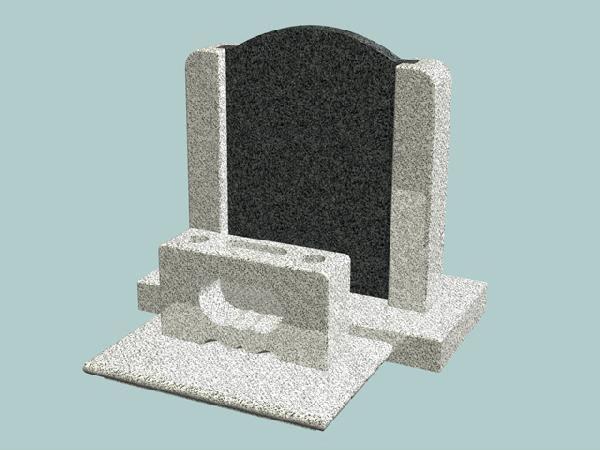 墓石 DIY自作キットA タテ型 正面文字込