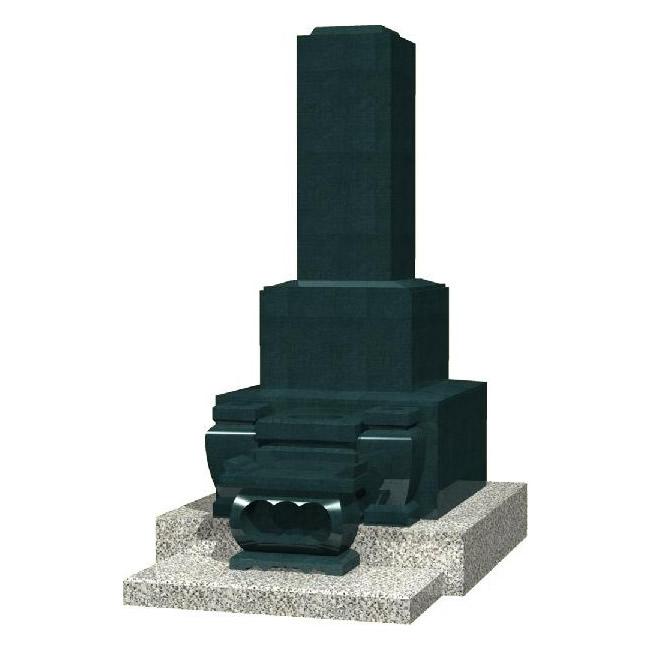 墓石 デザイン高級和型のお墓(黒御影石)送料有料