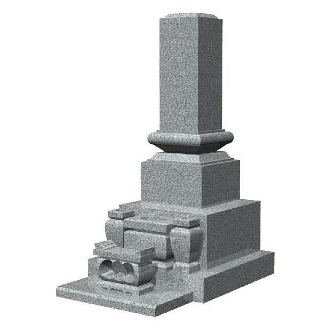 墓石 デザイン高級和型スリン付のお墓(白御影石)