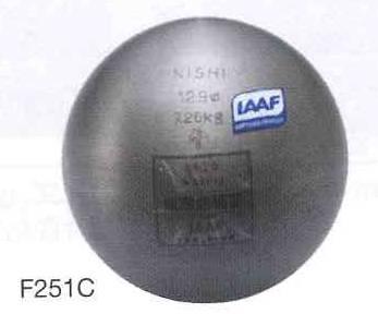 NISHI 砲丸 男子一般用 F251C 7.260kg サイズ:φ129mm *IAAF承認品、JAAF日本陸上競技連盟検定品(お取り寄せ商品)