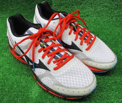 promo code 5762d ad467 Mizuno running shoes J1GC140309 wave rider 17 white X black X orange older  model saves it; a good bargain!