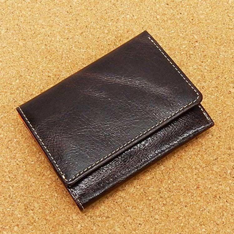 ◆ニブリック◆三つ折り財布◆茶◆小銭入れ付き◆日本製◆ピッグレザー/豚革◆AK33-BR