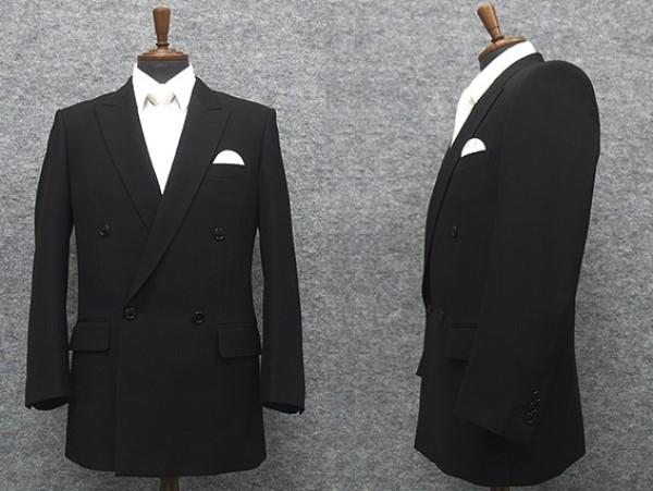 礼服 ダブル 通年物 超黒 DEER ベーシックフォーマルスーツ 4釦×1掛 ワンタック [A体][AB体][BB体][E体] DR5000W