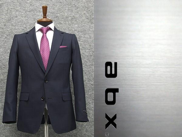 abx 春夏~通年物 紺/小格子 スタイリッシュ2釦スーツ [Y体][A体] 1タックパンツ メンズスーツ abx8221-88