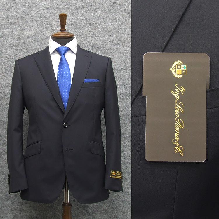 春夏物 濃紺無地 [ロロピアーナ]ZELANDER DREAM使用 [YA体][A体][AB体] スタイリッシュ2釦スーツ メンズ スーツ LOS500