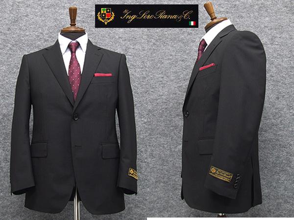 春夏物 黒縞 [ロロピアーナ] ZELANDER DREAM  [AB体][BB体] ベーシック2釦スーツ メンズ スーツ LOR63
