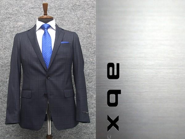 abx 秋冬物 super110s 藍紺/チェック スタイリッシュ2釦スーツ [Y体][A体] 1タックパンツ メンズトレンドスーツ abx7343-88
