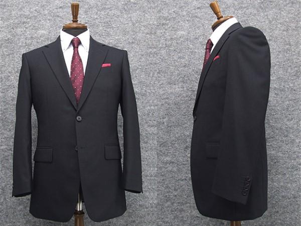 秋冬物 2パンツ付 シングル2釦ベーシックスーツ 濃紺/ストライプ [A体] メンズスーツ TDH7009-2P