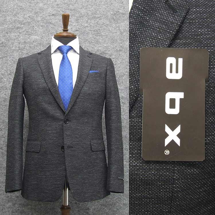 abx 春夏~通年物 グレー/ホップサック調 スタイリッシュ2釦スーツ [Y体][A体] 1タックパンツ メンズスーツ abx9219