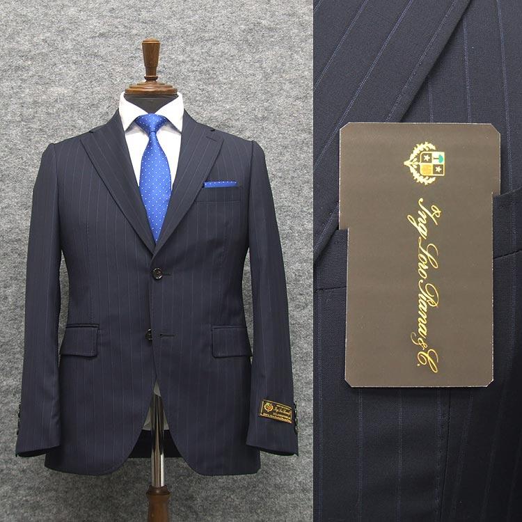 春夏物 紺/縞 [ロロピアーナ] ZELANDER DREAM使用 [A体][AB体] トレンドスタイル2釦スーツ LOD62
