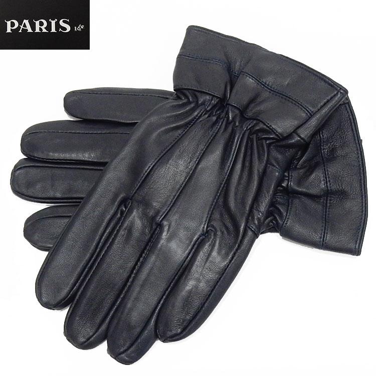 手袋 PARIS16e 羊革 シープスキン ネイビー グローブ メンズ メール便可 LAM-N03-NV ファッション通販 訳あり商品