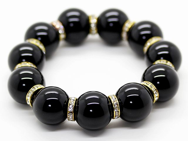 Auc Ishiki Rakuten Global Market Natural Stone Onyx 20mm Beads Bracelet Men