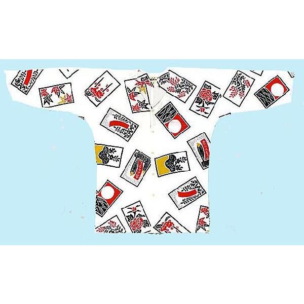 江戸一 手拭【鯉口シャツ 花札 男性用 巾広】≪お取り寄せ品≫