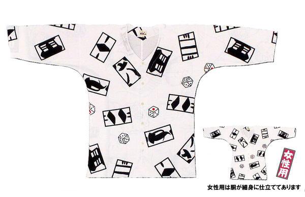 江戸一 手拭【鯉口シャツ 張札 女性用 小/中/大】≪お取り寄せ品≫