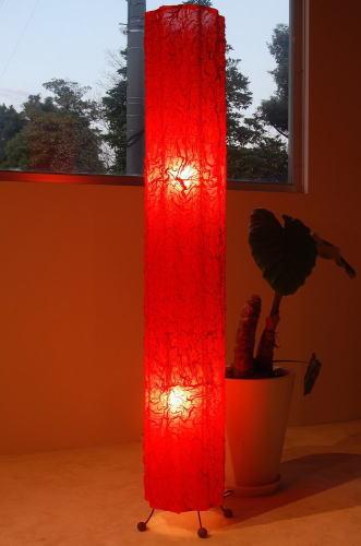 ルモード(オレンジ) 150cm 大型 8畳 10畳 コットン 床置き 2灯 アジアン照明 間接照明 フロアライト スタンドライト スタンド 照明 フロアスタンド アジアン ランプ おしゃれ インテリア 癒し モダン ダイニング バリ 北欧 ラグジュアリー led 寝室 プレゼント