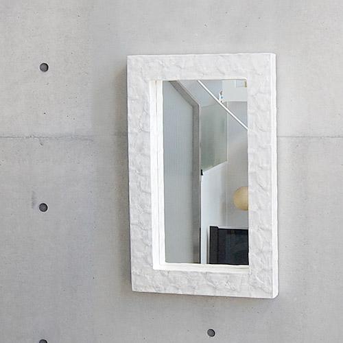 シェルミラー(ホワイト) 80×50/鏡 ミラー 壁掛け ワイドミラー 角型 洗面 玄関 リビング 廊下 シェル カピス貝 カピスシェル おしゃれ 癒し ナチュラル モダン インテリア アジアンテイスト バリ ハワイアン リゾート サロン 美容室 白