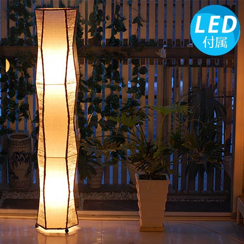 ガーネットL 142cm 大型 8畳 10畳 コットン 床置き 2灯 ナチュラル アジアン照明 間接照明 フロアライト スタンドライト スタンド 照明 フロアスタンド アジアン ランプ おしゃれ インテリア 癒し モダン リゾート バリ島 北欧 LED 寝室 新築祝い 引っ越し祝い