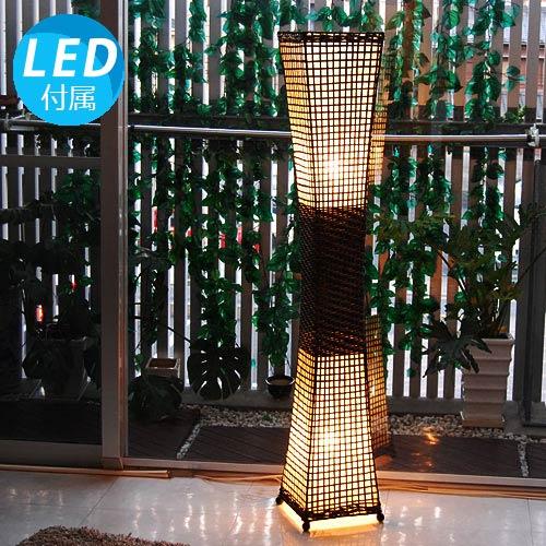 カマラL 142cm 8畳 10畳 ラタン 床置き 2灯 アジアン照明 間接照明 フロアライト スタンド 照明 フロアスタンドライト アジアン ランプ おしゃれ インテリア 癒し 和モダン ダイニング バリ リビング 北欧 和風 和室 led 寝室 プレゼント 引っ越し祝い