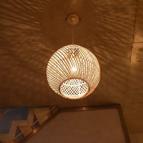 Asian Lighting Indirect Ceiling Light Pendant Horse Mackerel Ann Lamp West Coast