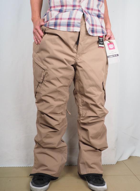 686(シックスエイトシックス) SMARTY CARGO PANTS XXLサイズ 色はカーキ インナーもついていて、とても便利!ラスト一枚 超お買い得特別プライス! 定価¥32,000-