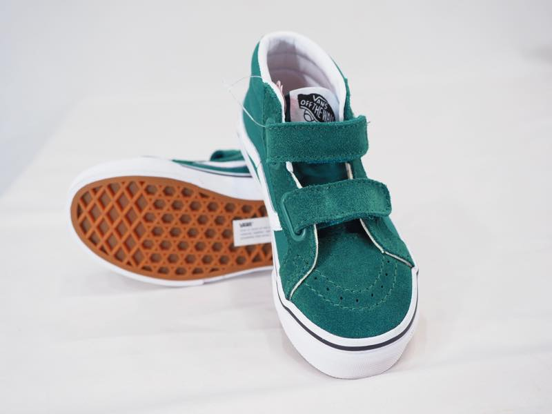 67d9a04114 VANS SK8-MID REISSUE V QUETZAL GREEN KIDS child size Velcro