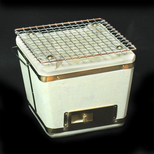 Oku-Noto diatomaceous earth shichirin No. 17, net, strip and single charcoal with