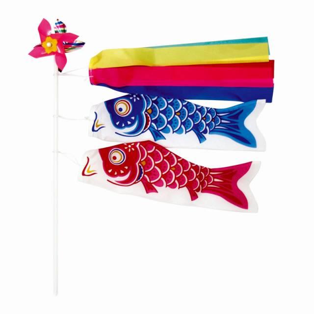 【装飾品 こどもの日・端午の節句】鯉のぼりミニミニセット 24入り
