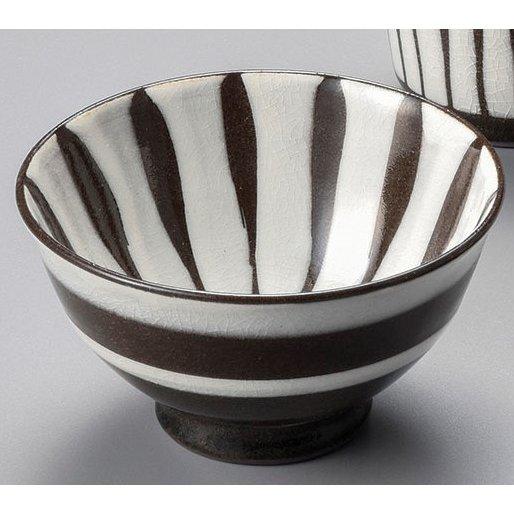 刷毛十草(白)飯碗 5個組 /  美濃焼