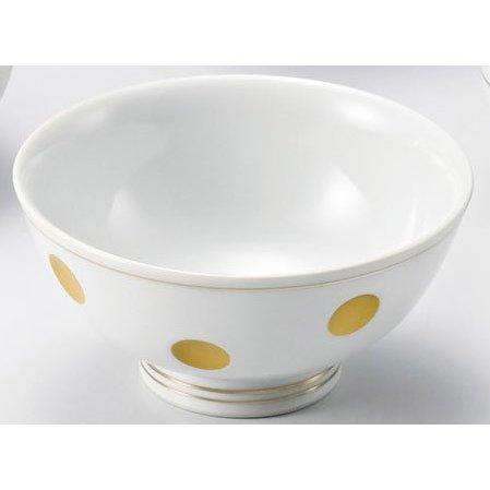 金ライン彫水玉 飯碗 5個組 /  有田焼