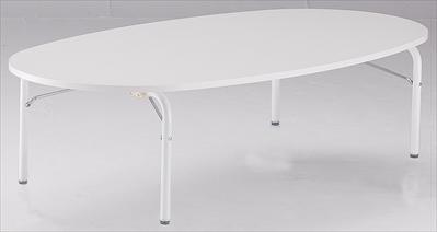 TOKIO【藤沢工業】 キッズテーブル 楕円型・ハイタイプ JRM-1280H W1200xD800xH510
