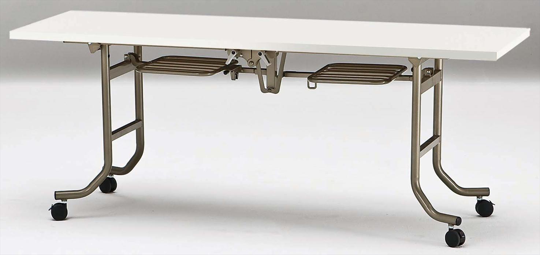 TOKIO【藤沢工業】天板跳ね上げ式会議用テーブル(スタッキングテーブル)共貼りタイプタイプ FLT-1845 W1800xD450xH700mm