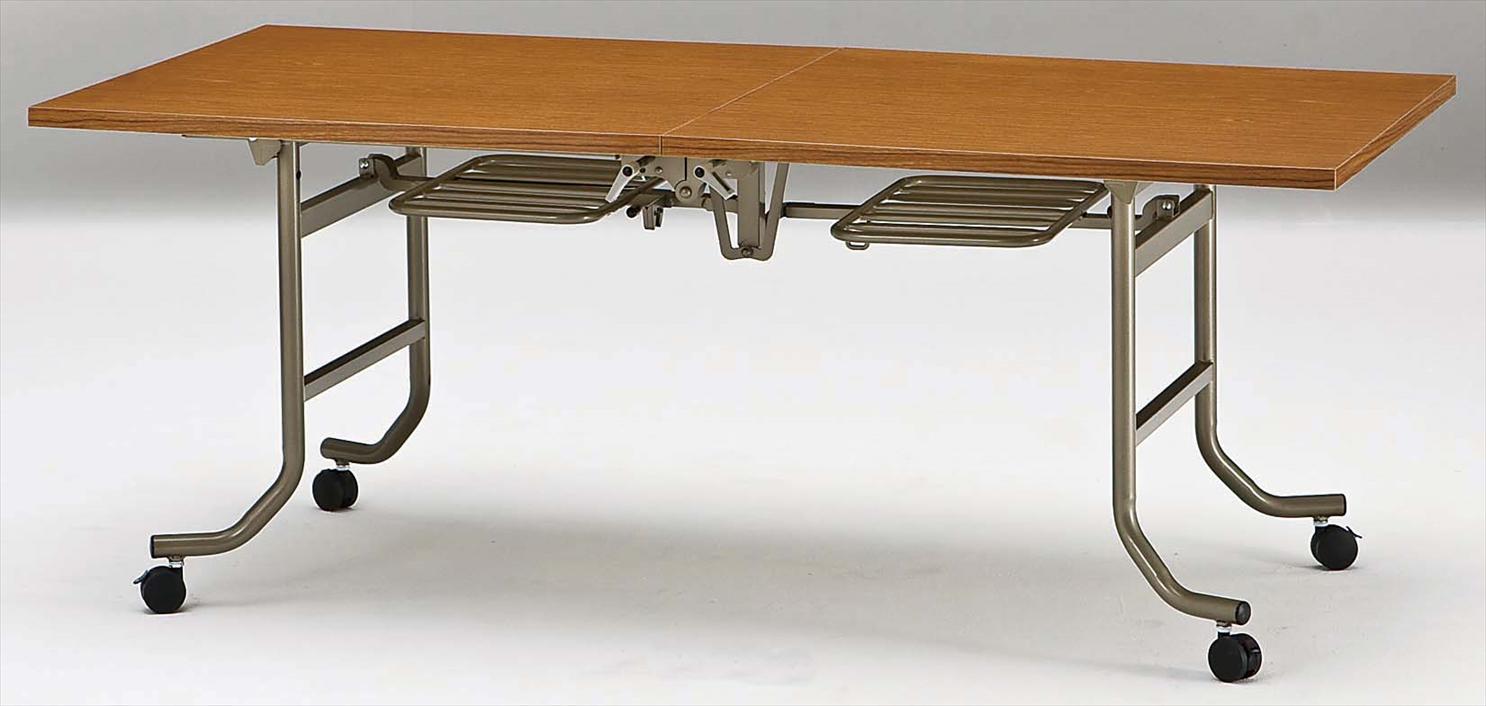 TOKIO【藤沢工業】天板跳ね上げ式会議用テーブル(スタッキングテーブル)共貼りタイプ FLT-1890 W1800xD900xH700mm