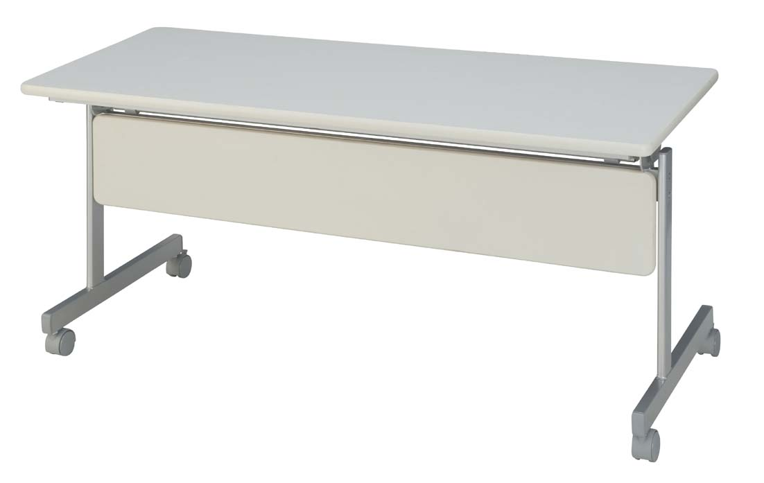 HITECHWOOD【ハイテクウッド】 会議用テーブル(跳ね上げ式) 幕板付き ITO-KSM1560NW W1500xD600xH700