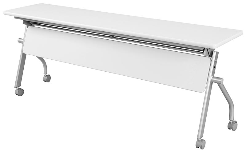 HITECHWOOD【ハイテクウッド】 会議用テーブル(跳ね上げ式平行スタックテーブル) 幕板付き KSPM1860NW W1800xD600xH700