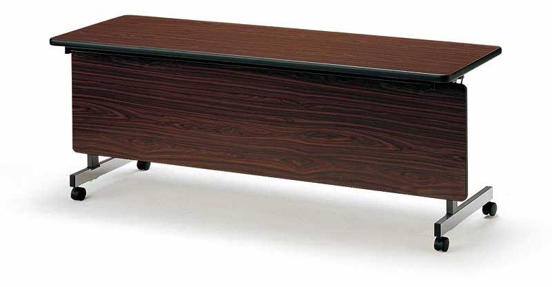 TOKIO【藤沢工業】天板跳ね上げ式会議用テーブル(スタッキングテーブル) ストレートテーブル・パネル付 TX-1845P W1800xD450xH700mm