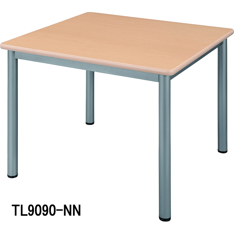 HITECHWOOD【ハイテクウッド】 ミーティングテーブル TL9090-NW ホワイト W900xD900xH700mm