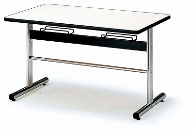 TOKIO【藤沢工業】 ダイニングテーブル(天板 エラストマエッジ・椅子掛け付き) DA-1275 W1200xD750xH700mm