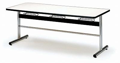 TOKIO【藤沢工業】 ダイニングテーブル(天板 エラストマエッジ・椅子掛け付き) DA-1875 W1800xD750xH700mm