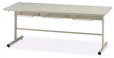 TOKIO【藤沢工業】 ダイニングテーブル(天板エラストマエッジ・椅子掛け付き) DT-TW1875 W1800xD750xH700mm