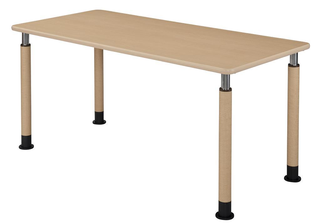 HITECHWOOD【ハイテクウッド】 介護・福祉用昇降テーブル 4本固定脚タイプ UFT-4T1690-L1 W1600xD900xH596~796mm