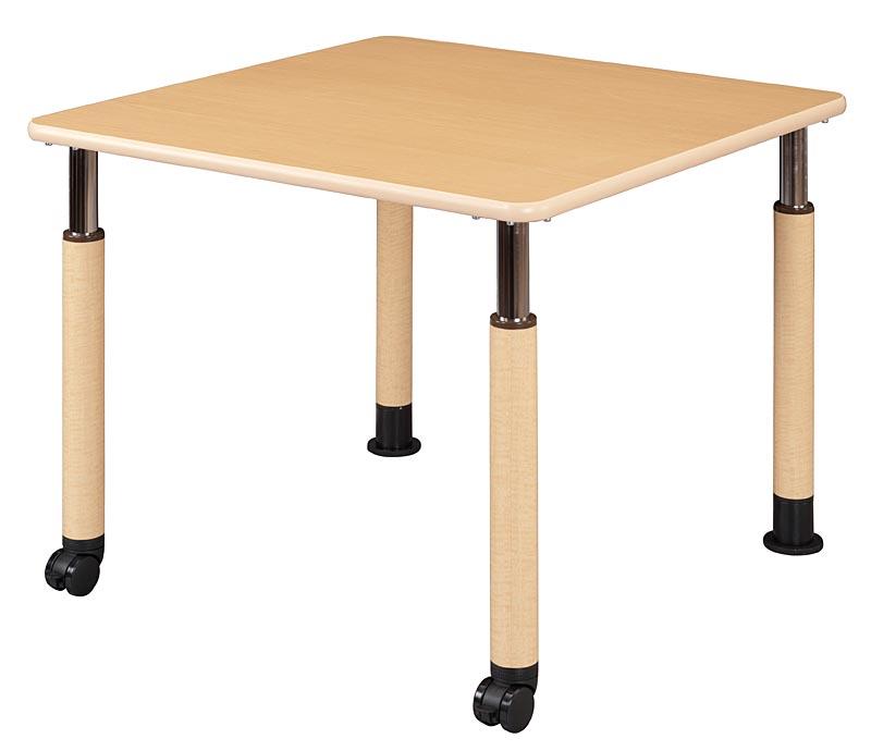 HITECHWOOD【ハイテクウッド】 介護・福祉用昇降テーブル 2本固定脚・2本キャスタータイプ UFT-4T9090-L2 W900xD900xH596~796mm